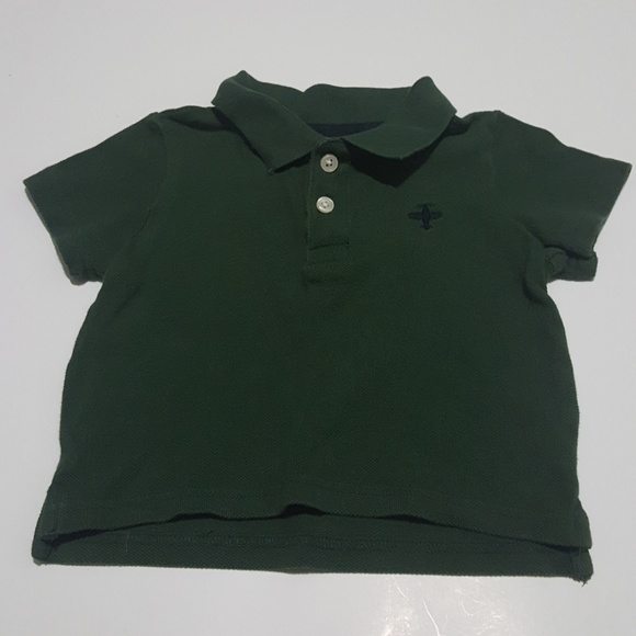 Crazy 8 Shirts Tops Baby Boy Green Polo Airplane Logo 612m
